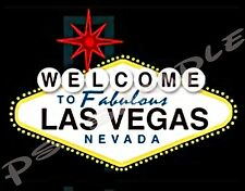 LAS VEGAS - sign - Travel Souvenir Flexible Fridge Magnet