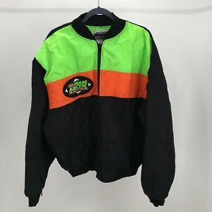 Arctic Cat Team Racing Windbreaker Jacket Mens XXL Black Full Zip Up Comfort