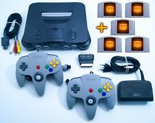 Nintendo 64 / N64 Konsole + 2 Original Controller + Kabel + 5 Spiele