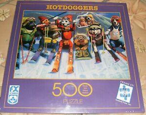New 1999 FX Schmid Hotdoggers Skiing Dogs Puzzle Husky Dalmatian Yorkie Scottie