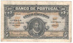 Portugal 5 Escudos 1925 P-133