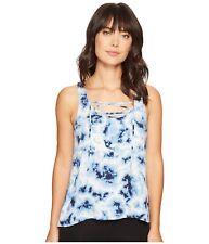 NWT PJ Salvage Blue Batik Tie Dye Rayon Tank Top, Size X-Large