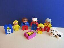 DUPLO LEGO famiglia Figure Set MAMMA PAPA 'BABY GIRL CANE NONNA PER CASA LOTTO 326