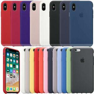 Silicone Liquid Case For iPhone 11 X XR XS Max 8 7 Liquid Rubber Case