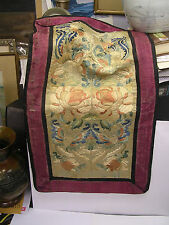 QING DYNASTY Chinese Forbidden Stitch Silk SLEEVE BANDS Ca 1800!!! butterfly!