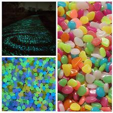 10pcs Colorful Glow in The Dark Resin Stones Pebbles Rock For Fish Tank Aquarium