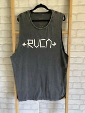 100/% AUTHENTIC MENS RVCA TANK M L OR XL WHITE SINGLET  SIZE S