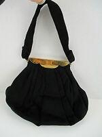 Vtg COBLENTZ ORIGINAL Purse Handbag Evening Black Felt Wool B. ALTMAN CO Mirror