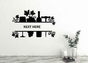 Customized Monogram Wine Kitchen Wall Decal Kitchen Wine