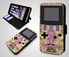 Nintendo Gameboy Retro Super Mario Zelda Wallet Leather Flip Phone Case Cover