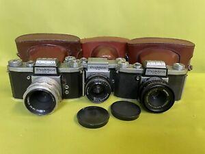 3 Kameras Praktica FX und FX 2 mit Tessar 2.8/50 und Pentacon 3.5/30
