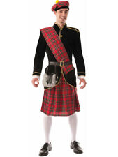 The Scotsman - Red Kilt Irish Adult Costume
