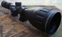 Nikko Mountmaster 4-12x50 Parallax Illuminated HMD Rifle Scope and 9-13mm Mounts