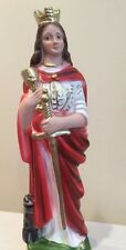 """ST Barbara Holy Prayer Catholic Gift 8.5"""" Made in ITALY COLOR is Magnificent NEW"""
