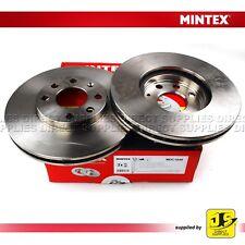 2X MINTEX FRONT BRAKE DISCS MDC1049 CHEVROLET OPEL VAUXHALL ASTRA Mk IV ASTRAVAN