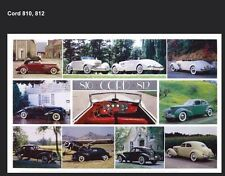 Cord 810,812 History - Out of Print Very Hard to Find Car Poster!Own It Last One