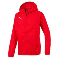 3ac6002ae73 Puma Mens Sports Football Soccer Rain Hooded Jacket Long Sleeve Full Zip Top