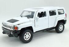 Hummer H3 Farbe : Weiss Lizenz Miniatur Rückzugsmotor L115mmxB42mmxH52mm