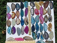 Agate Geode Slice Lot of 5 Quartz Polished Both Sides Slab Lot Large Size #2