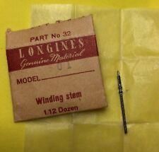 NOS Longines Winding Stem Cal.501 Part 401 Watch Parts Repair Restore Swiss New