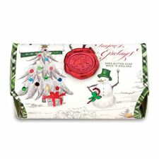 Michel Design Works Large 8.7 oz Artisanal Bar Bath Soap Season's Greetings NEW