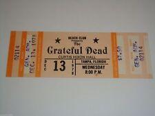 THE GRATEFUL DEAD VINTAGE 1978 UNUSED CONCERT GIG TICKET Jerry Garcia Bob Weir