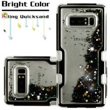 Samsung GALAXY Note 8 Hybrid Bling Liquid Glitter Protective Phone Case Cover
