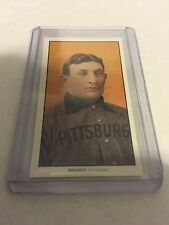 1909 T-206 Honus Wagner Reprint Piedmont back in tobacco size sleeve & top load