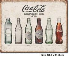 Coke Bottle Evolution 1886 Up LICENSED  RUSTIC Metal Tin Sign 1839  Made in USA