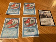 Genuine MAGIC the Gathering Deckmaster 4x Blue Elemental Blast +Leonin Den-Guard