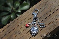 Vampire Keychain Keyring Vampire Diaries Elena Damon Stefan Zipper Charms Silver