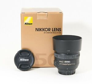 Nikon AF-S 50mm F/1.4G Lens **Hood**Caps**Box**Papers**Pouch**USA Model**Nice**
