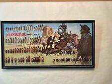 Vtg Speer Bullets Reloading Ammunition Bullet Board Framed Poster Locomotive