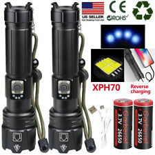 99000 Lumens XHP70 Zoomable 5 Modes LED USB Rechargeable 18650 Flashlight Torch