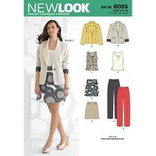 Misses's top, jupe, pantalon et veste. NEW LOOK sewing pattern. 6035