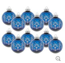 Glitter Damask Ball Christmas Tree Ornaments