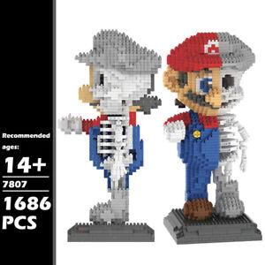 ZRK Building Blocks Skeleton Super Mario Brothers Micro Bricks DIY Toys 1686PCS