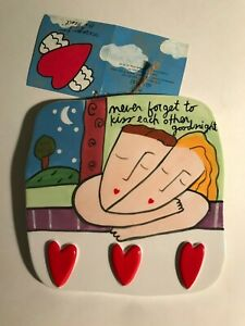 Sandra Magsamen for Silvestri Messages from the Hear Wall Tile Plaque,  WITH TAG