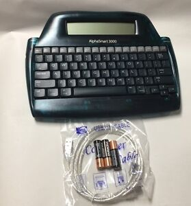 Alphasmart 3000 Portable Laptop Keyboard Word Processor with USB cable/batteries
