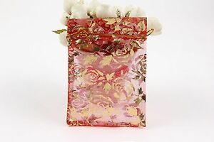 100 PCS Organza Jewelry Candy Gift Pouch Bags Wedding Party Xmas Favors Decor