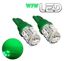 2 Ampoules LED W5W T10 Vert  habitacle plafonnier Coffre Boîte à gants miroir