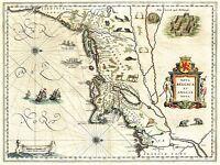 ART PRINT POSTER MAP OLD NEW ENGLAND YORK MANHATTAN USA NOFL0701
