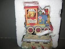 ENESCO CHERISHED TEDDIES # 331465 A BOY IN TRAIN CAR MUSICAL TUNE: TOYLAND