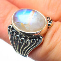 Rainbow Moonstone 925 Sterling Silver Ring Size 6.5 Ana Co Jewelry R28685F