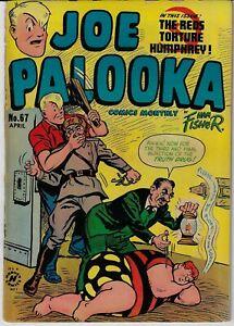 JOE PALOOKA # 67 HARVEY 1952 HAM FISHER  BONDAGE TORTURE HYPO COVER DRUG STORY