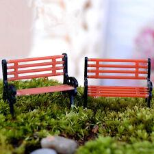 Miniature Park Seat Mini Garden Ornament Bench Craft Fairy Dollhouse Decor