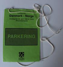 Ticket pass for collectors * Denmark - Norway 1992 in Aarhus