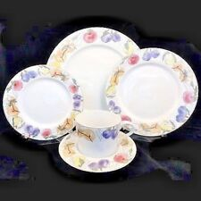 FRUITS by Block Spal 5 Piece Place Setting NEW NEVER USED Porcelain Portugal