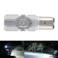 BA20D 4 LED Scooter Hi/Lo 6000K 20W Motorcycle ATV Headlight Lamp Bulb for Car