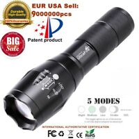 T6 Tactical Outdoor LED Flashlight Torch 50000LM Zoomable 5-Mode for 18650 yW